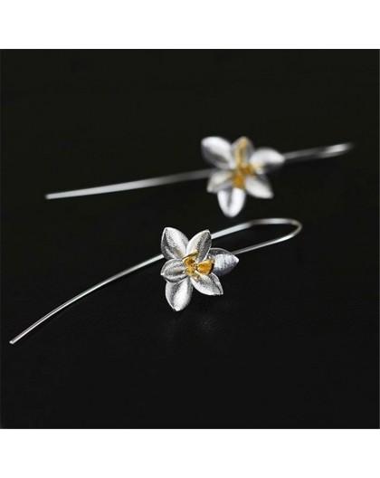 Boucles d'oreilles motif Orchidée en argent