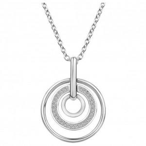Collier argent oxydes zirconium 3 cercles