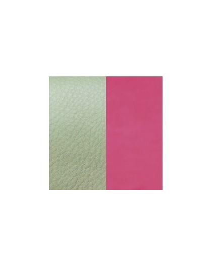 Cuir Les Georgettes 25mm menthol/rose fluo