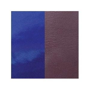 Cuir Les Georgettes 25mm prune/vernis bleu