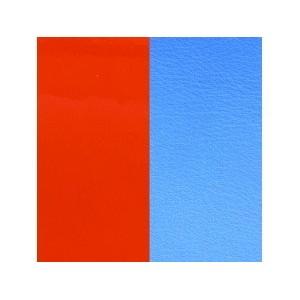 Cuir Bracelet Georgettes 14mm Orange vernis/bleuet