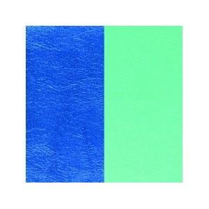 Cuir Bracelet Georgettes 14mm Bleu/Vert d'eau
