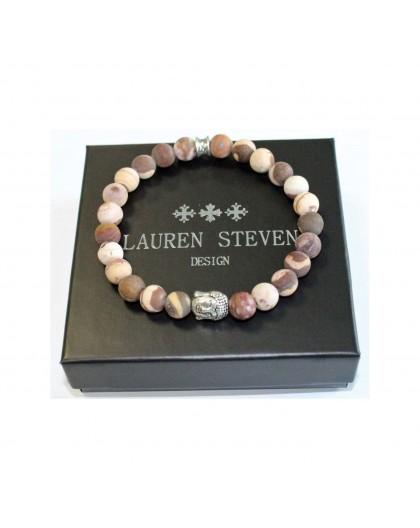 Bracelet Lauren Steven Pierre zebrée café taille L