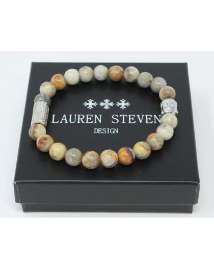 Bracelet Lauren Steven Crazy stone taille L