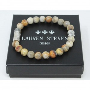 Bracelet Lauren Steven Crazy stone taille M