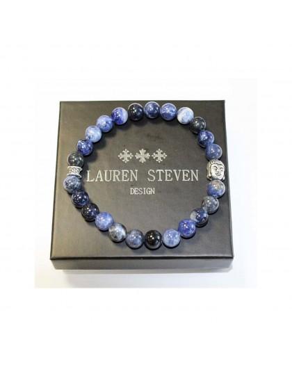 Bracelet Lauren Steven Sodalite brésil taille M