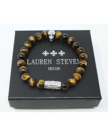 Bracelet Lauren Steven Oeil de tigre taille M