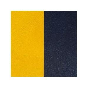 Cuir Les Georgettes 25mm jaune/marine