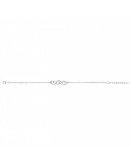 Bracelet argent rhodié et zirconiums arabesque