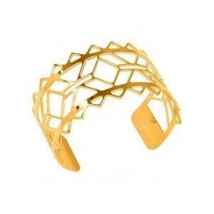 Bracelet Les Georgettes Inca doré large