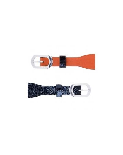 Bracelet montre Les Georgettes 14mm marine/corail