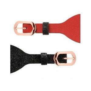 Bracelet montre Les Georgettes 25mm pailleté/rouge