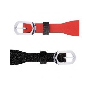 Bracelet montre Les Georgettes noir/rouge simple
