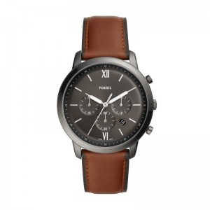 Montre Fossil homme FS5512 cuir marron