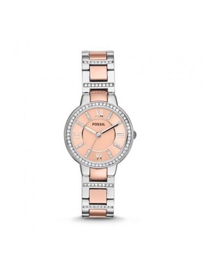 Montre Fossil femme ES3405 bicolore acier rosé