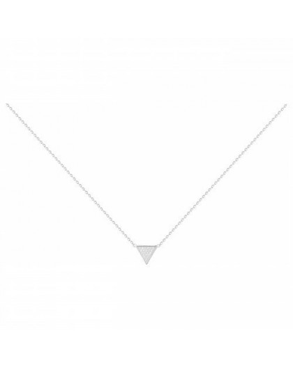 Collier argent oxydes zirconium triangle