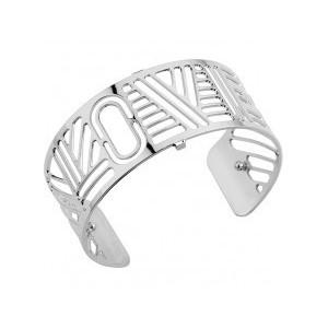 Bracelet Les Georgettes Love 25mm argenté