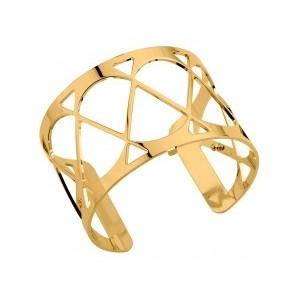 Bracelet Les Georgettes Coeur 40mm doré