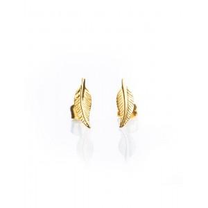 Boucles d'oreilles Or Plume simple