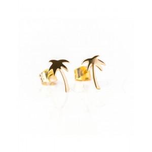 Boucles d'oreilles Or palmiers
