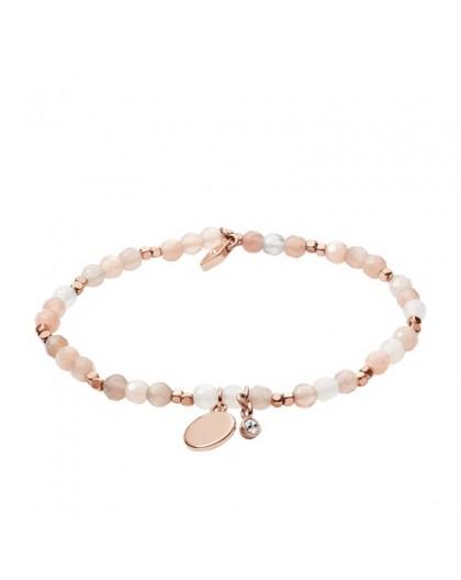 Bracelet Fossil femme JA6945791 agate rose
