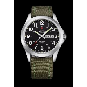 Montre Swiss Military SMP36040.05 canvas khaki