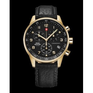 Montre Swiss Military SM34012.10 chrono plaqué or