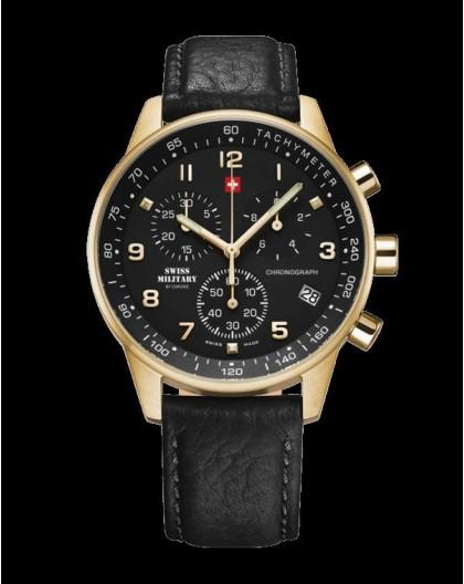 Montre Swiss Military SM34012.10 chrono plaqué or