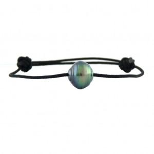Bracelet Perle de Tahiti montée sur nylon tressé