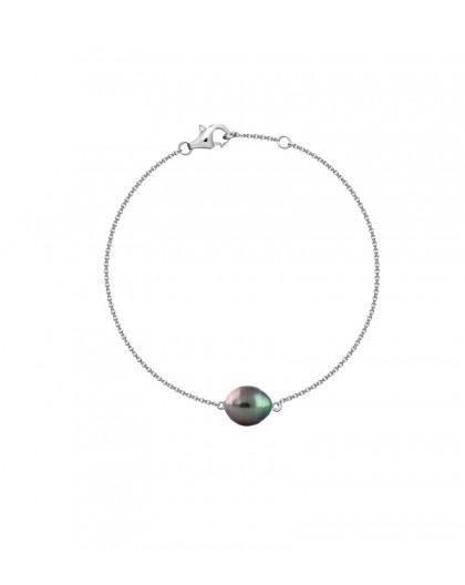 Bracelet Perle de Tahiti sur chaine argent