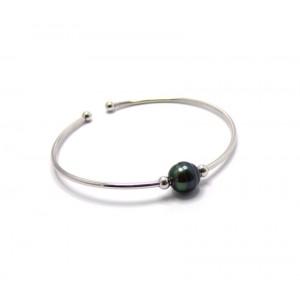Bracelet Jonc Perle de Tahiti argent
