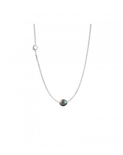 Collier argent et Perle de Tahiti