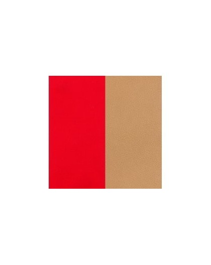 Cuir Georgettes 8mm XS rouge soft/beige