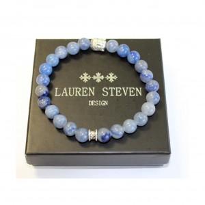 Bracelet Lauren Steven Sodalite africaine taille L