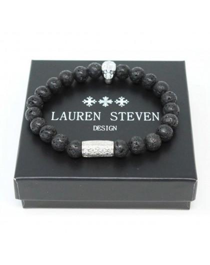 Bracelet Lauren Steven Pierre de lave taille L