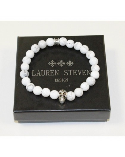 Bracelet Lauren Steven Howlite Blanche taille L