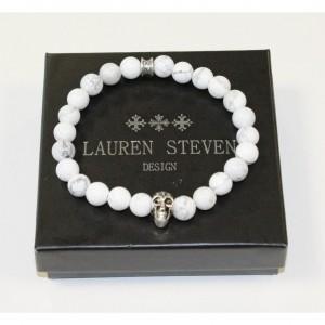 Bracelet Lauren Steven Howlite Blanche taille M