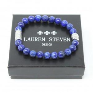 Bracelet Lauren Steven Lapis Lazuli taille M