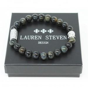 Bracelet Lauren Steven Oeil Tigre bleu taille L