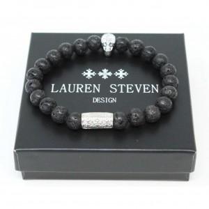 Bracelet Lauren Steven Pierre de Lave taille M