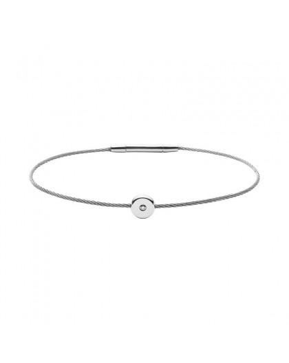 Bracelet Skagen Bijoux SKJ1165040 diamant et acier