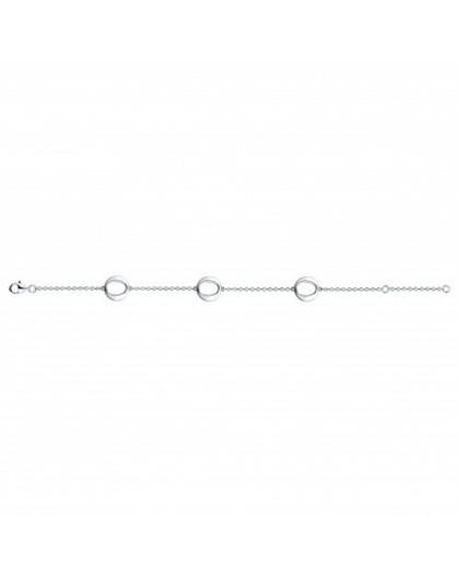 Bracelet Argent oxydes zirconium motifs modernes