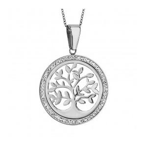 Collier Argent médaille Arbre de vie