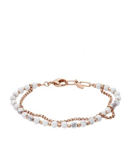 Bracelet Fossil femme JA6774791 multi liens pierre