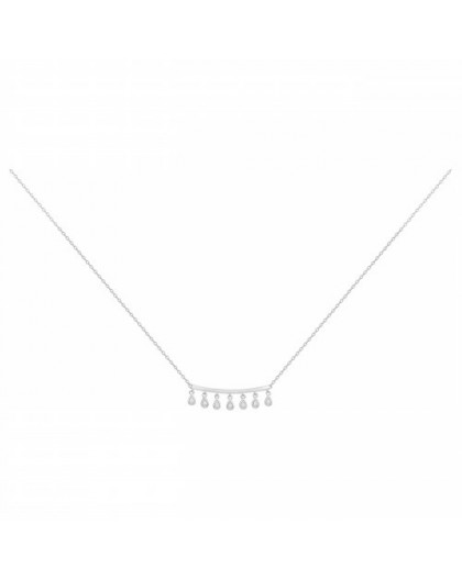 Collier Argent oxydes zirconium pampilles Gipsy