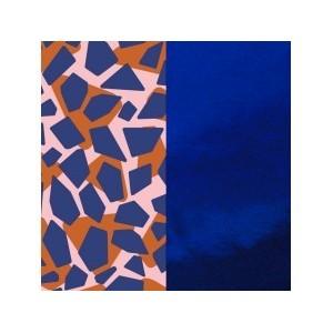 Cuir les Georgettes 40mm Girafe/Bleu Vernis