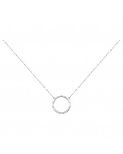 Collier Argent cercle Oz simple