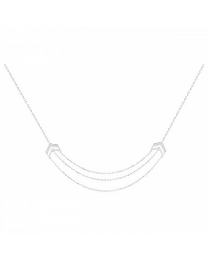 Collier Argent triple rang chaines