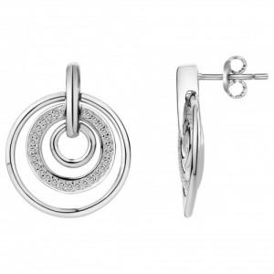 Boucles d'oreilles argent et oxydes triple cercles