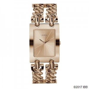 Montre Guess femme W1117L3 double chaine or rose